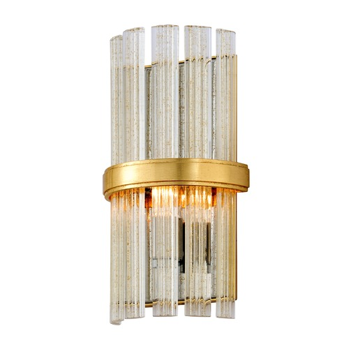 Corbett Lighting Corbett Lighting Symphony Gold Leaf with Polished Stainless Sconce 257-11