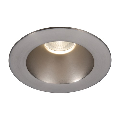 WAC Lighting WAC Lighting Round Brushed Nickel 3.5-Inch LED Recessed Trim 2700K 1165LM 18 Degree HR3LEDT118PS827BN