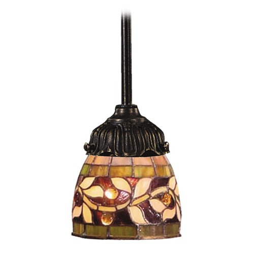 Elk Lighting Mini-Pendant Light with Multi-Color Glass 078-TB-13
