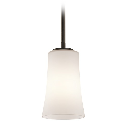 Kichler Lighting Kichler Mini-Pendant Light with White Glass 43077OZ