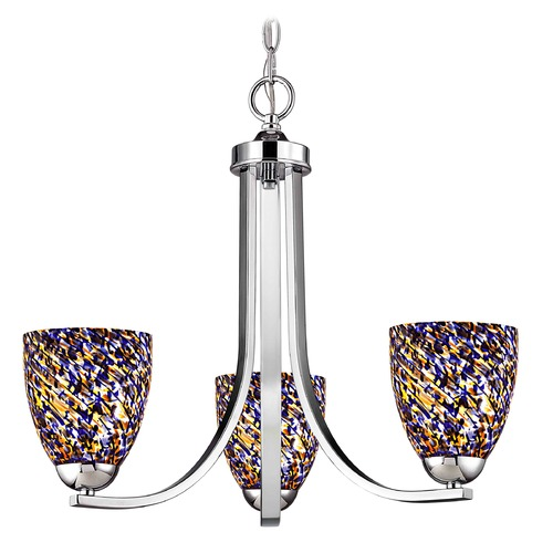 Design Classics Lighting Design Classics Dalton Fuse Chrome Mini-Chandelier 5843-26 GL1009MB