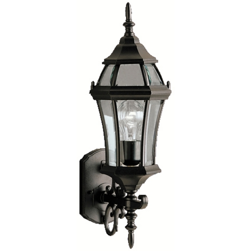 Kichler Lighting Kichler Outdoor Wall Light with Clear Glass in Black Finish 9790BK
