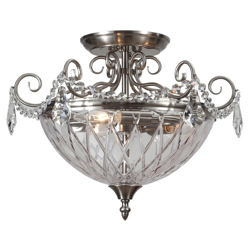 Crystorama Lighting Crystorama Lighting Ceiling Mount Polished Chrome Semi-Flushmount Light 269-CH-CL-MWP