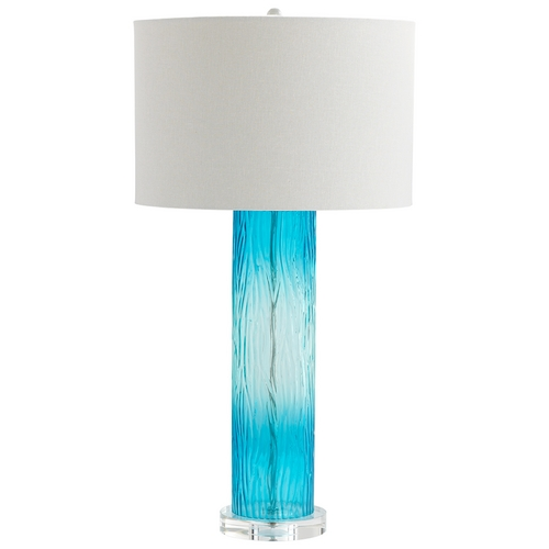 Cyan Design Cyan Design Blue Dawn Cyan Blue Table Lamp with Drum Shade 06320
