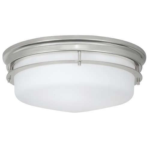 Norwell Lighting Norwell Lighting Galley Polished Nickel Flushmount Light 5633-PN-MO