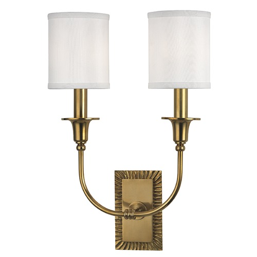Hudson Valley Lighting Dover 2 Light Sconce - Aged Brass 8082-AGB