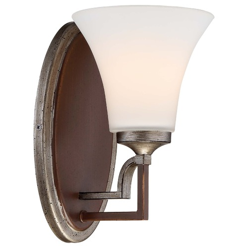 Minka Lavery Minka Astrapia Dark Rubbed Sienna with Aged Silver Sconce 5341-593