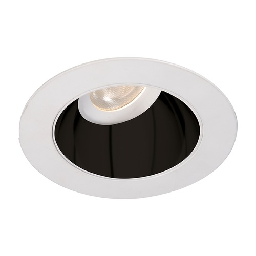 WAC Lighting WAC Lighting Round Black White 3.5-Inch LED Recessed Trim 2700K 970LM 55 Degree HR3LEDT318PF927BWT
