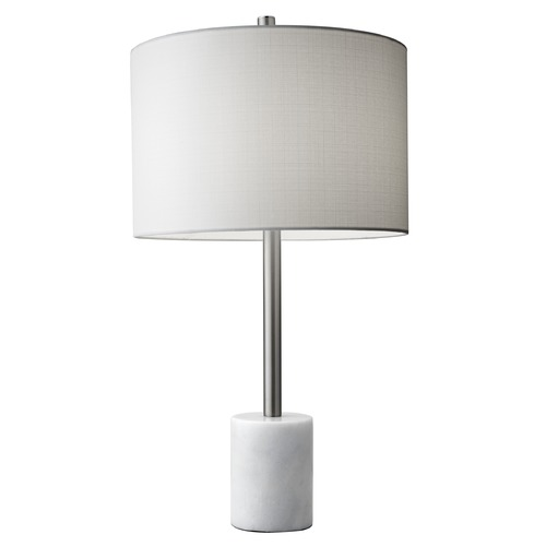 Adesso Home Lighting Adesso Home Blythe Brushed Steel Table Lamp with Drum Shade 5280-02
