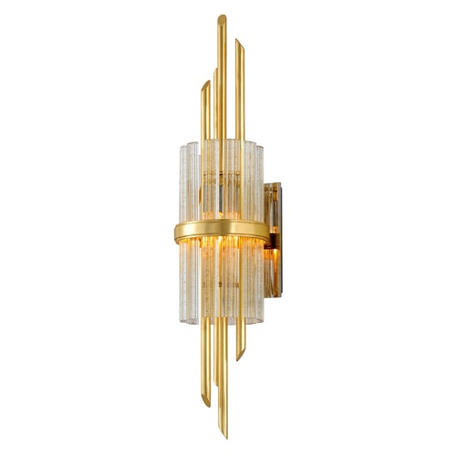 Corbett Lighting Corbett Lighting Symphony Gold Leaf with Polished Stainless Sconce 257-12