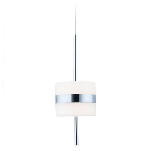 WAC Lighting Wac Lighting Smore Chrome LED Mini-Pendant Light with Drum Shade PD-34911-CH