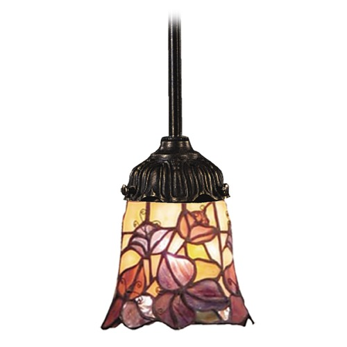Elk Lighting Mini-Pendant Light with Multi-Color Glass 078-TB-17