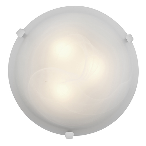 Access Lighting Modern Flushmount Light with Alabaster Glass in White Finish 23019-WH/ALB