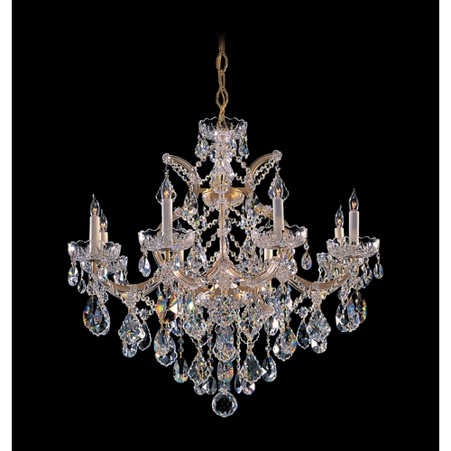 Crystorama Lighting Crystal Chandelier in Gold Finish 4409-GD-CL-SAQ