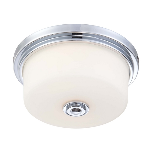 Nuvo Lighting Modern Flushmount Light with White Glass in Polished Chrome Finish 60/4591