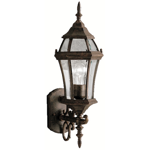 Kichler Lighting Kichler Outdoor Wall Light with Clear Glass in Tannery Bronze Finish 9790TZ