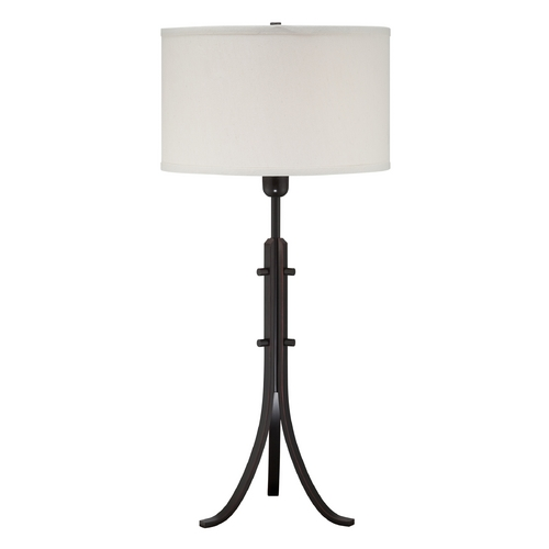 Lite Source Lighting Lite Source Lighting Erasto Aged Black Table Lamp with Drum Shade LS-22288