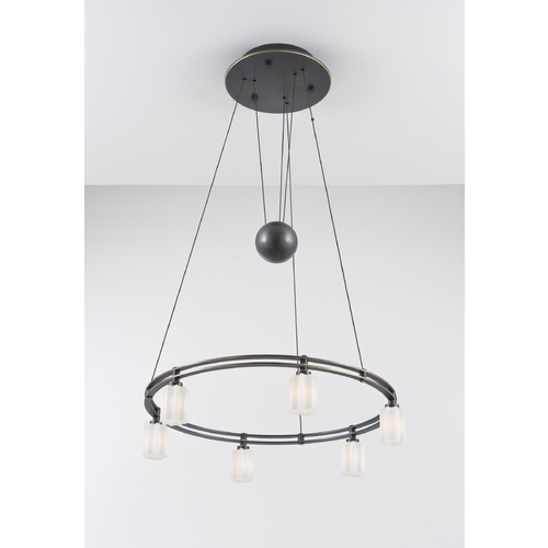 Holtkoetter Lighting Holtkoetter Modern Low Voltage Pendant Light with White Glass in Hand-Brushed Old Bronze Finish 5556 HBOB G5014