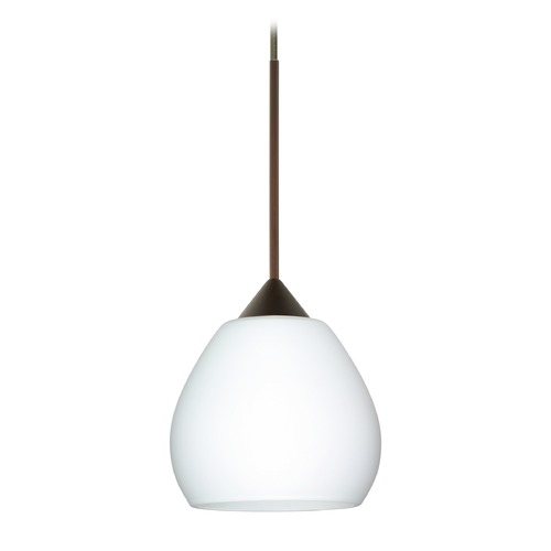 Besa Lighting Besa Lighting Tay Bronze Mini-Pendant Light with Bell Shade 1XT-560507-BR