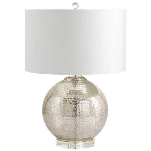 Cyan Design Cyan Design Hammered Reflections Mercury Table Lamp with Drum Shade 06321