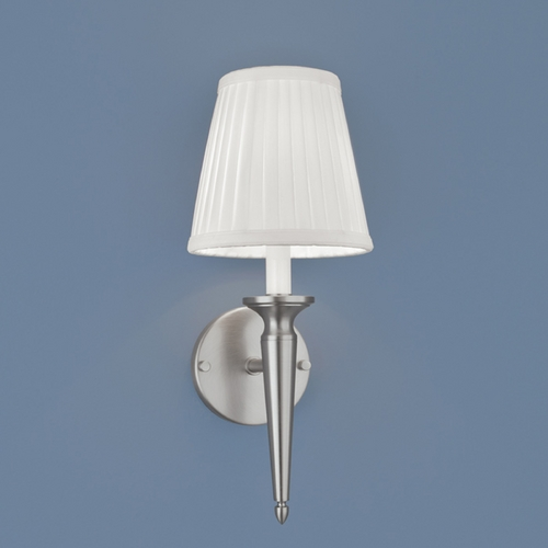 Norwell Lighting Norwell Lighting Georgetown Brush Nickel Sconce 8212-BN-WS