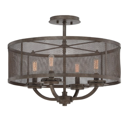 Savoy House Savoy House Galaxy Bronze Semi-Flushmount Light 6-2504-4-42