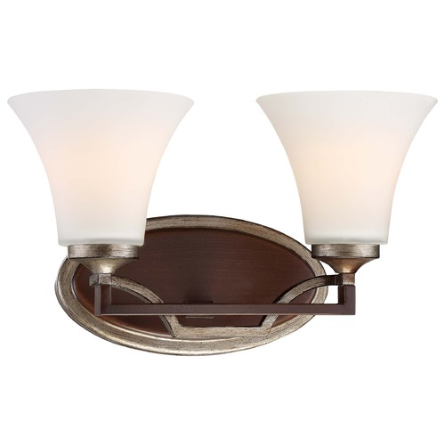 Minka Lavery Minka Astrapia Dark Rubbed Sienna with Aged Silver Bathroom Light 5342-593