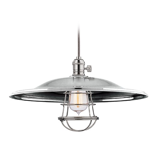 Hudson Valley Lighting Hudson Valley Lighting Heirloom Polished Nickel Pendant Light with Bowl / Dome Shade 8001-PN-ML2-WG