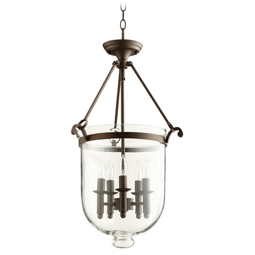 Quorum Lighting Quorum Lighting Oiled Bronze Pendant Light with Bell Shade 6702-5-86