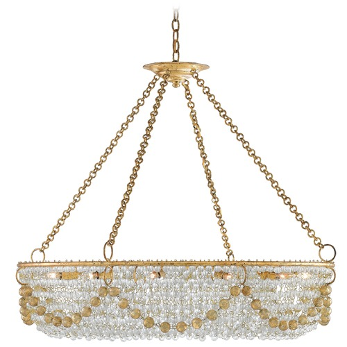 Currey and Company Lighting Currey and Company Aubade Gold Leaf Island Light 9000-0036