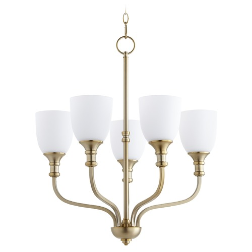 Quorum Lighting Quorum Lighting Richmond Aged Brass Chandelier 6811-5-80