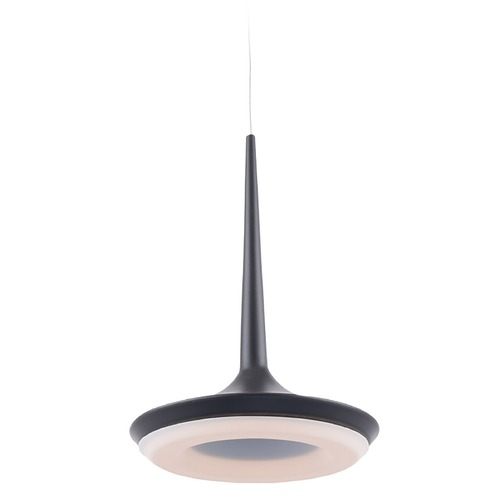 WAC Lighting Wac Lighting Enterprise Black LED Mini-Pendant Light with Oblong Shade PD-36912-BK