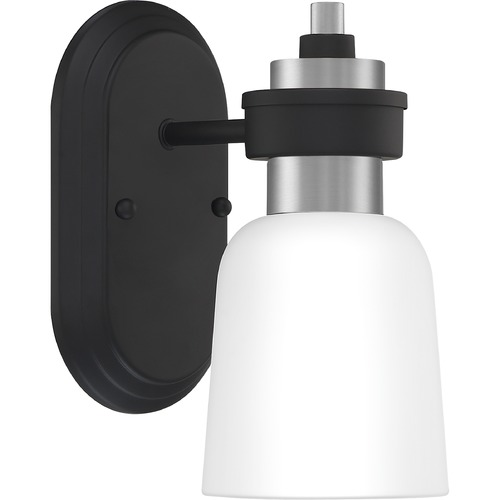 Quoizel Lighting Quoizel Lighting Conrad Matte Black with Brushed Nickel Sconce CRD8605BN