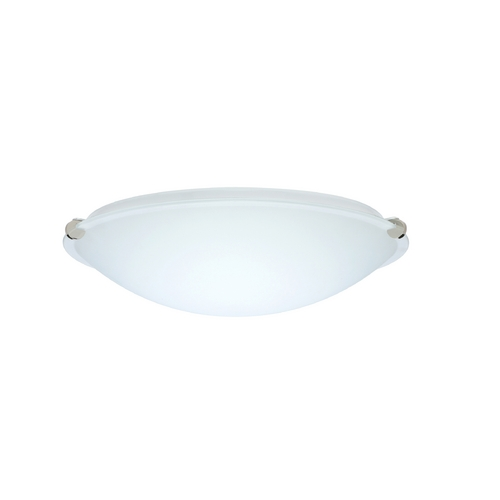 Besa Lighting Flushmount Light with White Glass in Polished Nickel Finish 968207-PN