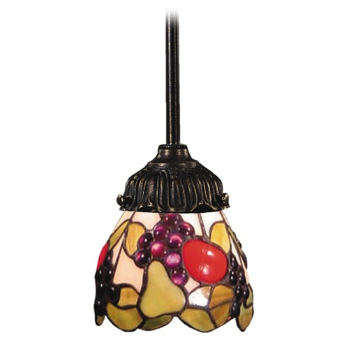 Elk Lighting Mini-Pendant Light with Multi-Color Glass 078-TB-19