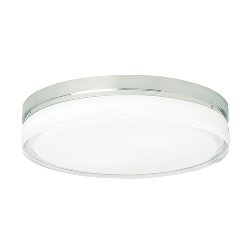 Tech Lighting Modern Flushmount Light with Clear Glass in Satin Nickel Finish 700CQLS-CF