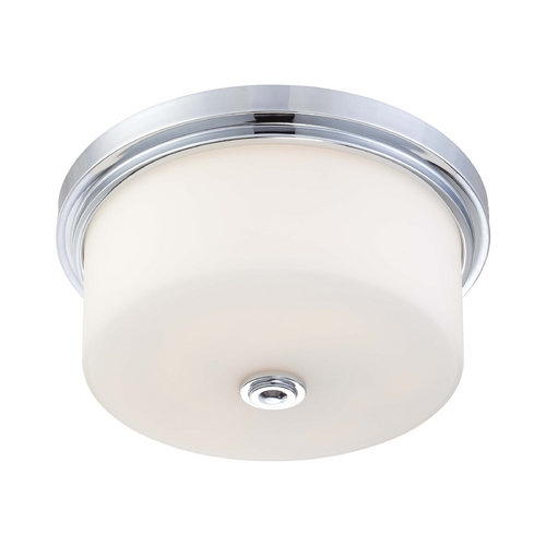 Nuvo Lighting Modern Flushmount Light with White Glass in Polished Chrome Finish 60/4592