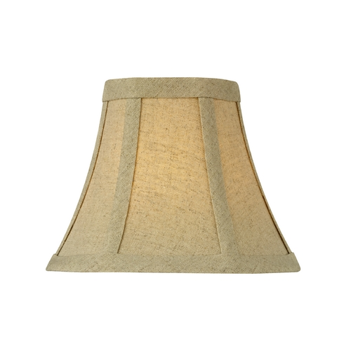 Design Classics Lighting Burlap Bell Lamp Shade with Clip-On Assembly SH9558