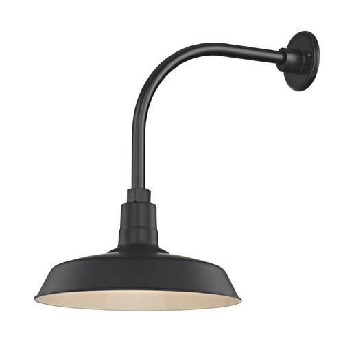 Recesso Lighting by Dolan Designs Black Gooseneck Barn Light with 14