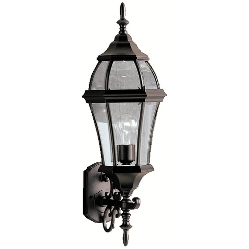 Kichler Lighting Kichler Outdoor Wall Light with Clear Glass in Black Finish 9791BK
