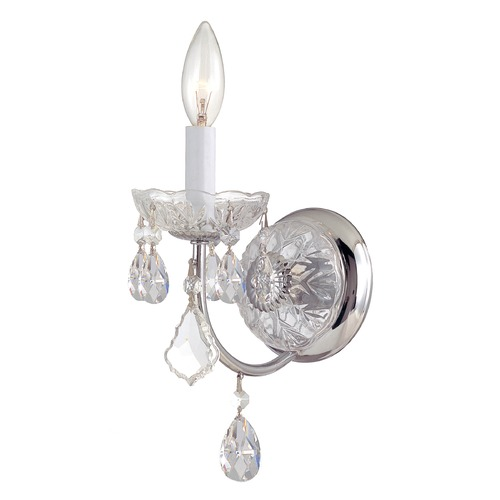 Crystorama Lighting Crystorama Lighting Imperial Polished Chrome Sconce 3221-CH-CL-S