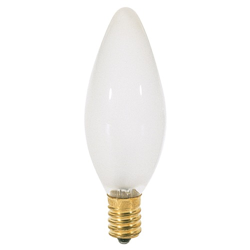 Satco Lighting Incandescent Flame Light Bulb European Base 120V by Satco S3380