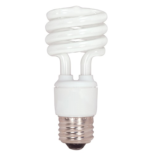 Satco Lighting Compact Fluorescent T2 Light Bulb Medium Base 4100K S7218