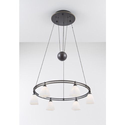 Holtkoetter Lighting Holtkoetter Lighting Hand-Brushed Old Bronze Pendant Light with Square Shade 5556 HBOB G5015