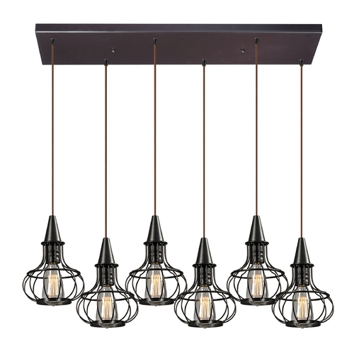 Elk Lighting Multi-Light Pendant Light 6-Lights 14191/6RC