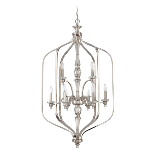Jeremiah Lighting Jeremiah Lighting Laurent Polished Nickel Pendant Light 37439-PLN