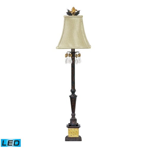 Dimond Lighting Dimond Lighting Black, Era Gold LED Table Lamp with Square Shade 91-267-LED