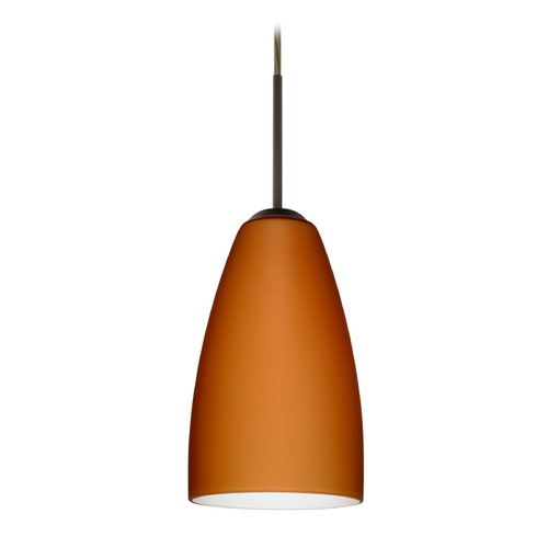 Besa Lighting Besa Lighting Riva Bronze LED Mini-Pendant Light 1JT-151180-LED-BR
