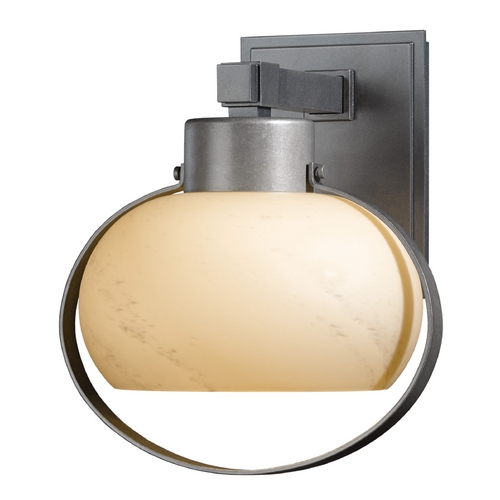Hubbardton Forge Lighting Hubbardton Forge Lighting Port Burnished Steel Outdoor Wall Light 304303-08-H355