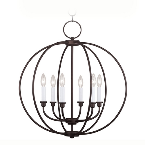 Livex Lighting Livex Lighting Milania Bronze Pendant Light 4666-07